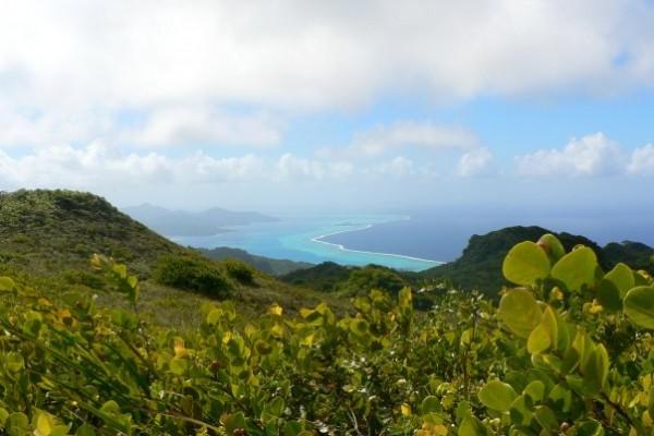 100- Le lagon de Raiatea-Tahaa vu du mont Temehani